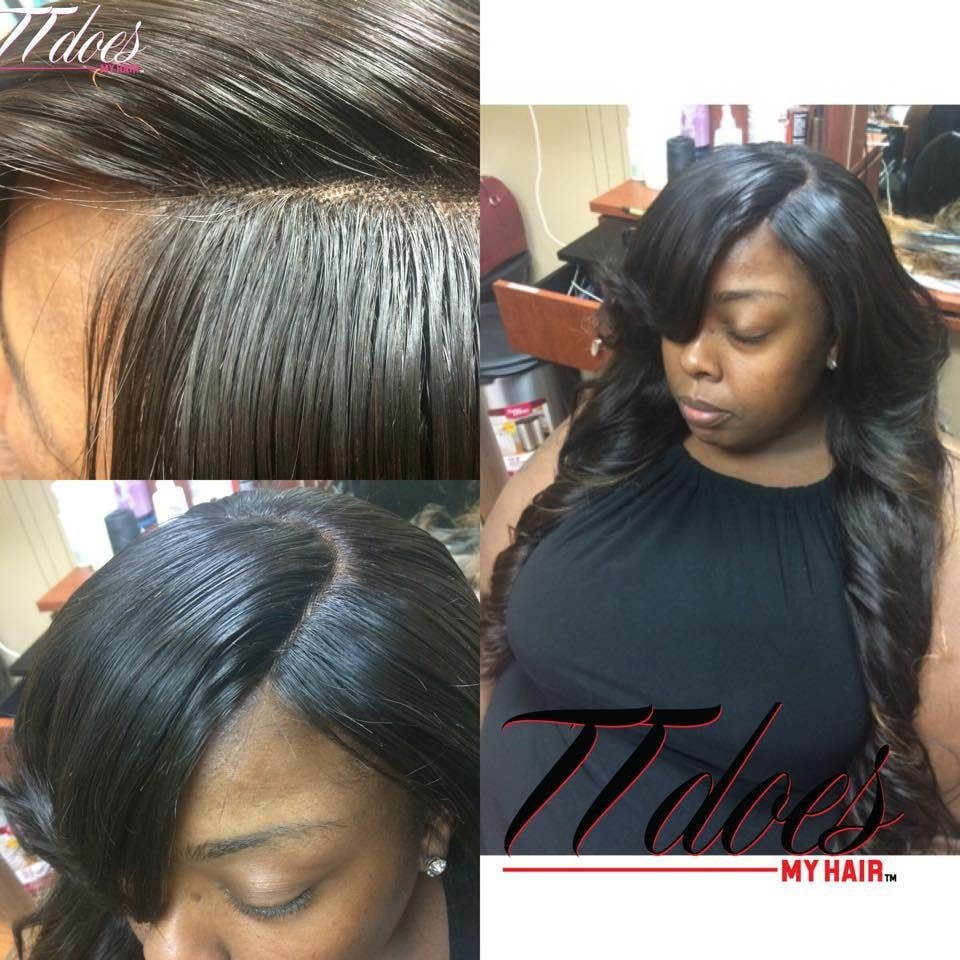 Sew In Extensions By Tt With A Lace Closure None Of The
