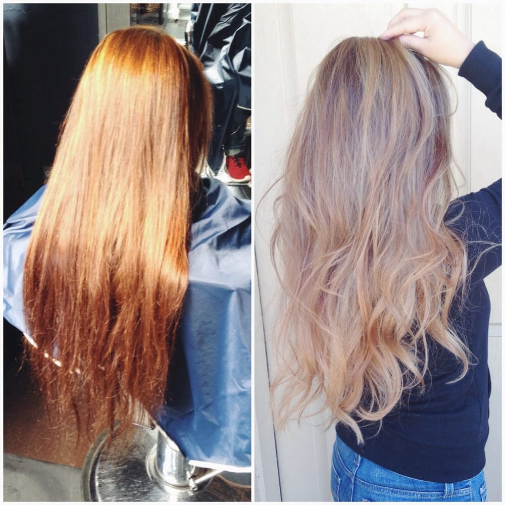 Before after balayage ombr by lien yelp for Salon vizions