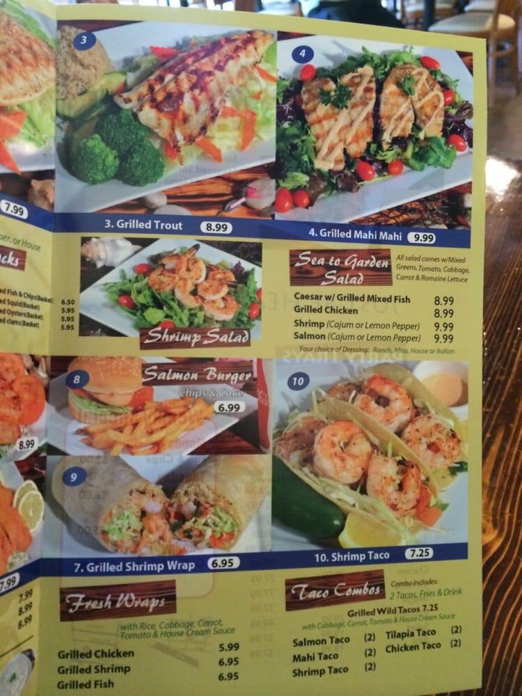 Menu yelp for Fish s wild menu