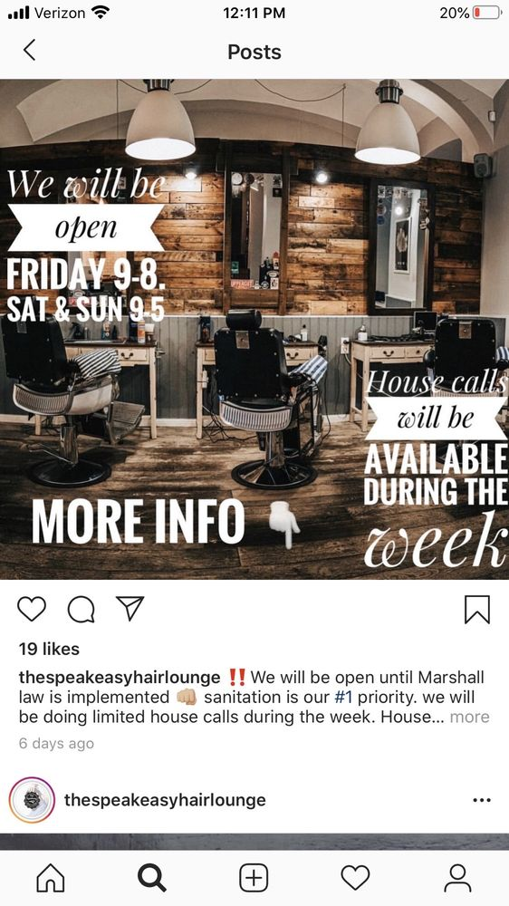 The Speakeasy Hair Lounge: 1185 11th St, Arcata, CA