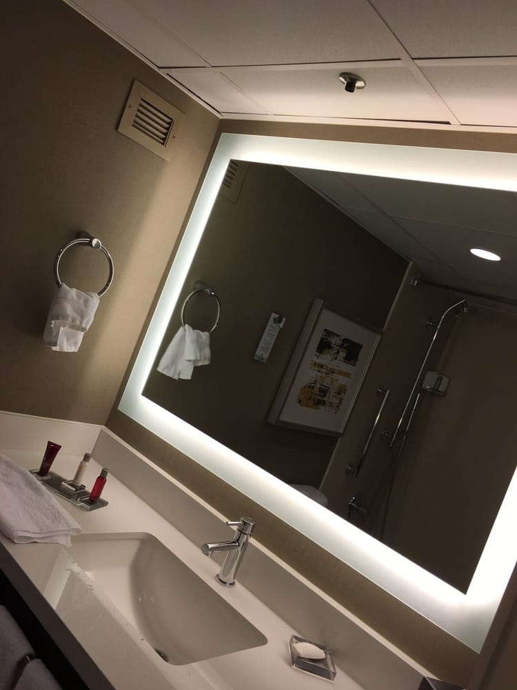 Bathroom Mirrors San Antonio loving this oversized bathroom mirror and backlight! - yelp