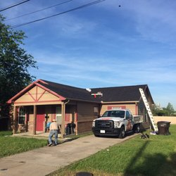 Photo Of Tiger Roofing Kaufman Tx United States Charcoal Roof In Plano
