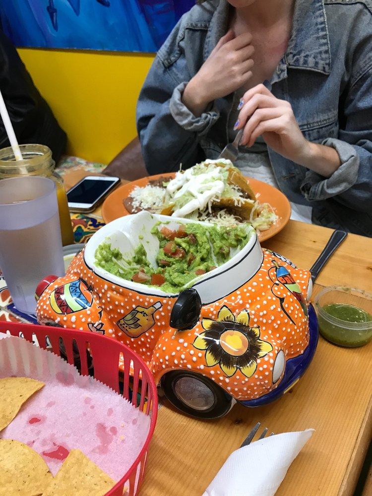Food from El Azteca Mexican