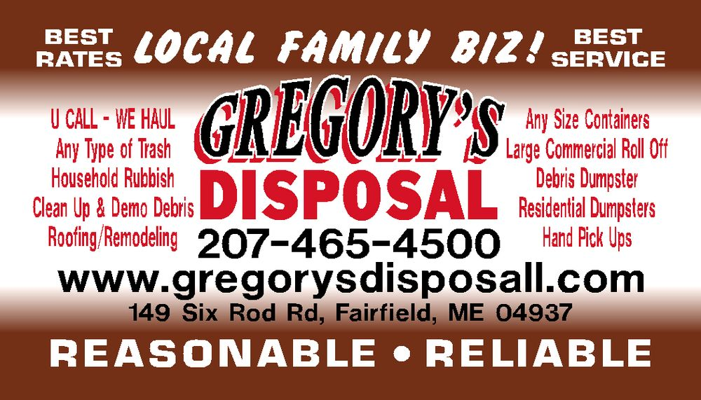 Gregory's Disposal: 149 Six Rod Rd, Fairfield, ME