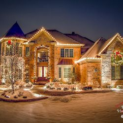 residential christmas light installers photo of handsome holiday heroes rogers ar united states c9 led warm - Christmas Light Decorating Service