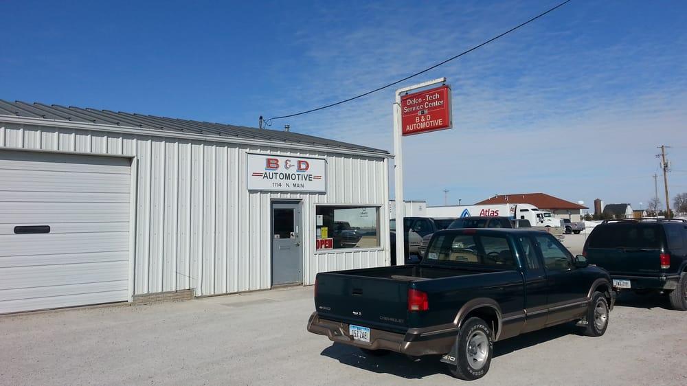 B & D Automotive Service: 1114 N Main, Walcott, IA