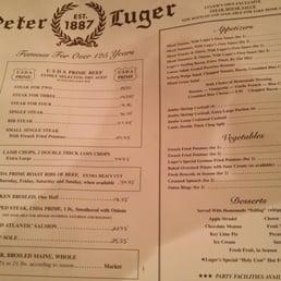 Photos for Peter Luger   Menu - Yelp