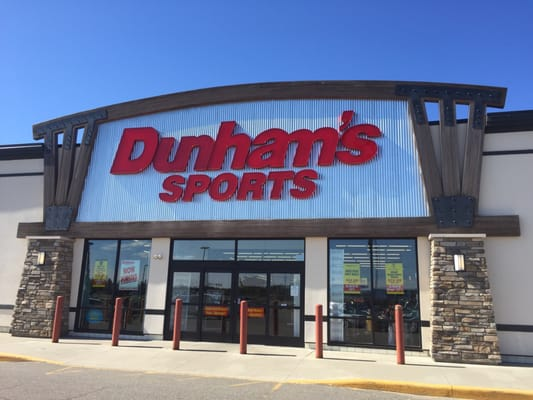 Our motto at Dunham's Sports is Big Names Low Prices. That is what we do everyday, give our customers the choice of the name brands that they want, and .