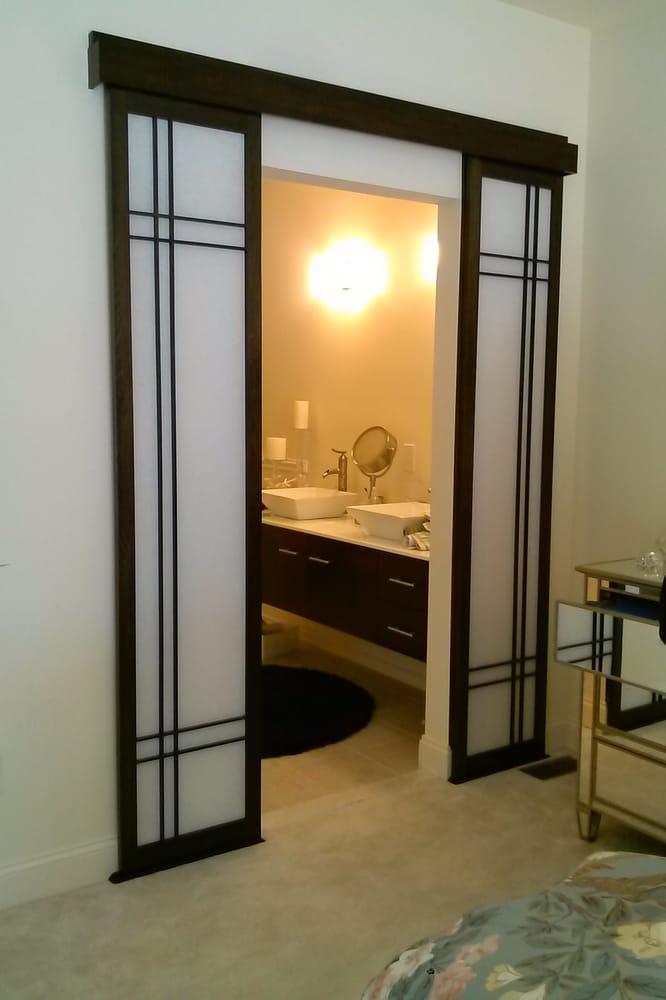 Bathroom entry sliding shoji doors. - Yelp