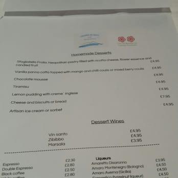 Locanda De Gusti Restaurant Edinburgh Menu