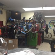 dfb2fc3a668 ... Photo of Life Cycle Bike Shop - Eugene, OR, United States. Truing wheels  ...