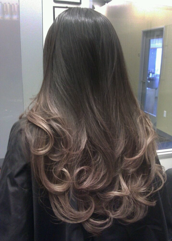 Titanium pearl ash blonde Ombre on Asian hair - Yelp