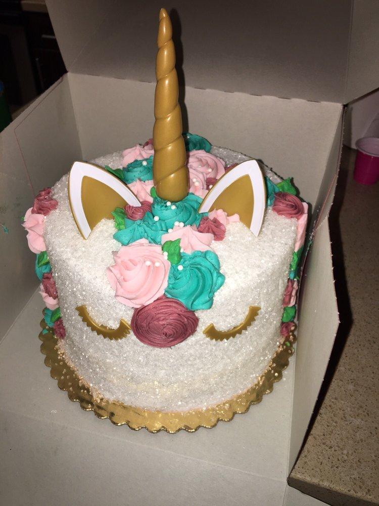 Astounding Unicorn Cakes Unicorn Cake Vons Personalised Birthday Cards Bromeletsinfo