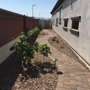 Side Yard Before Landscaping Photo Of Lopez Wittmann Az United States