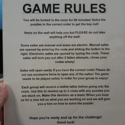 Escape Room The Game Instructions