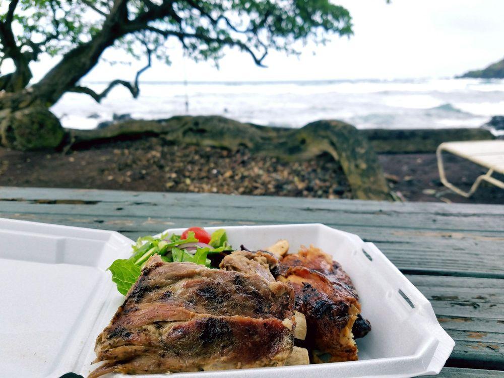 Huli Huli Chicken: Koki Beach Park, Hana, HI