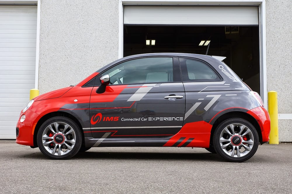 The Ims Car Connected Experience Fiat 500 Auto Wrap By Mobile Wraps