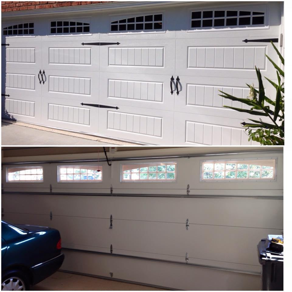 Oak summit 3 layer insulated garage door lawrenceville yelp for Garage door repair lawrenceville