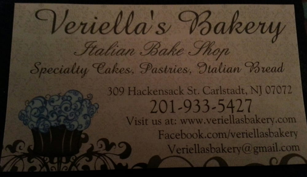 Veriellas bakery business card info yelp photo of veriellas bakery carlstadt nj united states veriellas bakery business card reheart Images