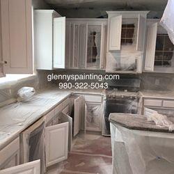 Photo Of Glennyu0027s Painting   Charlotte, NC, United States. Kitchen Cabinets  Primed