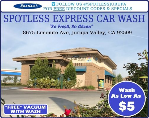 Spotless express car wash 8675 limonite ave riverside ca car washes spotless express car wash 8675 limonite ave riverside ca car washes mapquest solutioingenieria Images
