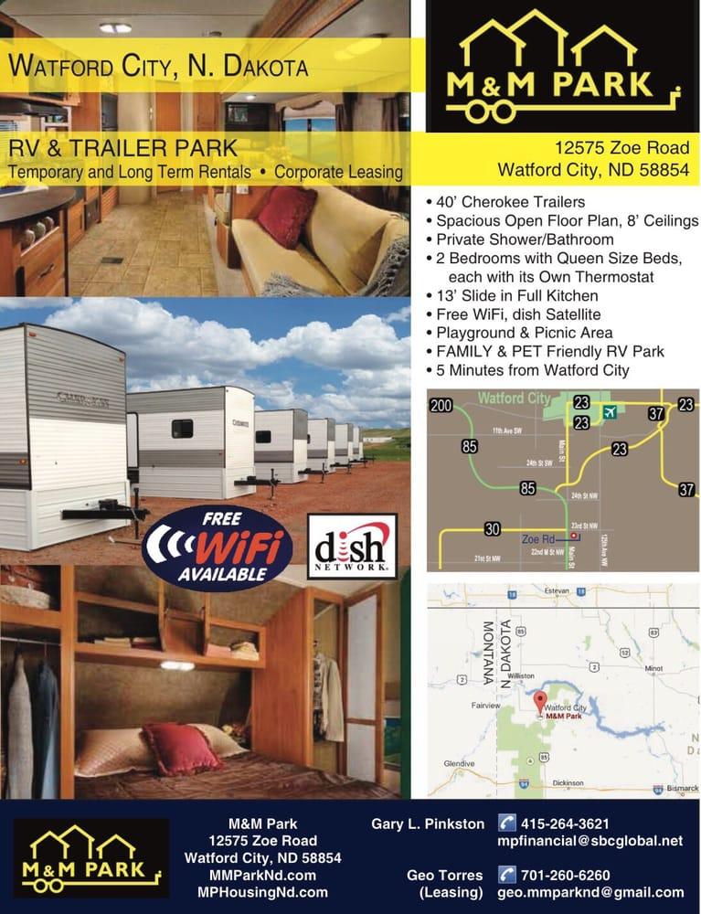 M&M Park: 12575 Zoe Rd, Watford City, ND