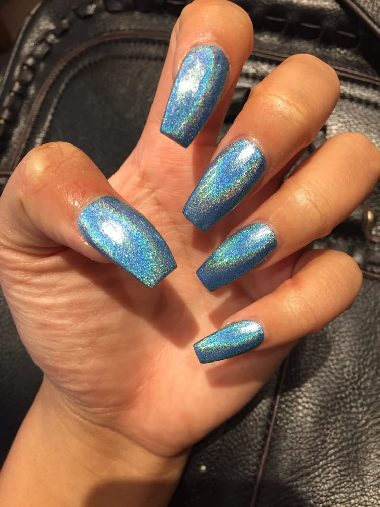 Holographic Nails: SNATCHED Coffin Holographic Nails By Christa $35