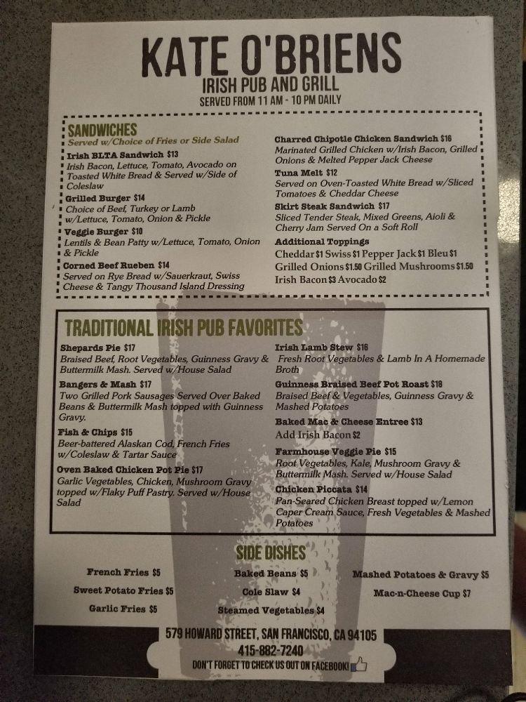 Kate O'Brien's Irish Bar & Grill