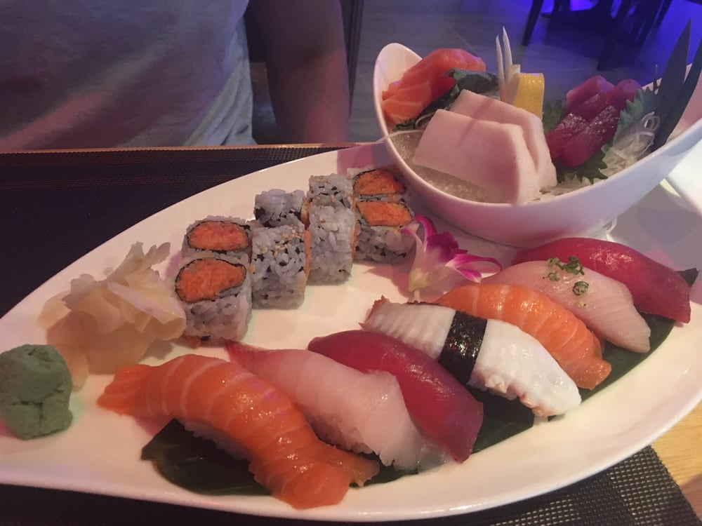 Sushi and sashimi combo bomb yelp for Asian fusion cuisine