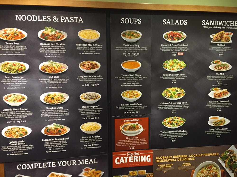 picture relating to Noodles and Company Printable Menu called Menu board - Yelp