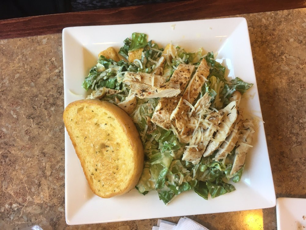 Chicken Caesar Salad With Garlic Bread Yelp