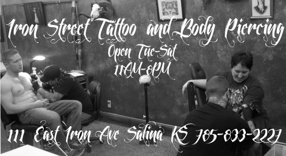 Iron Street Tattoo and Body Piercing: 111 E Iron Ave, Salina, KS