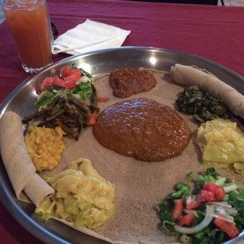 Raleigh Nc United States Vegetarian Combo Abyssinia Ethiopian Restaurant 49 Photos 91 Reviews