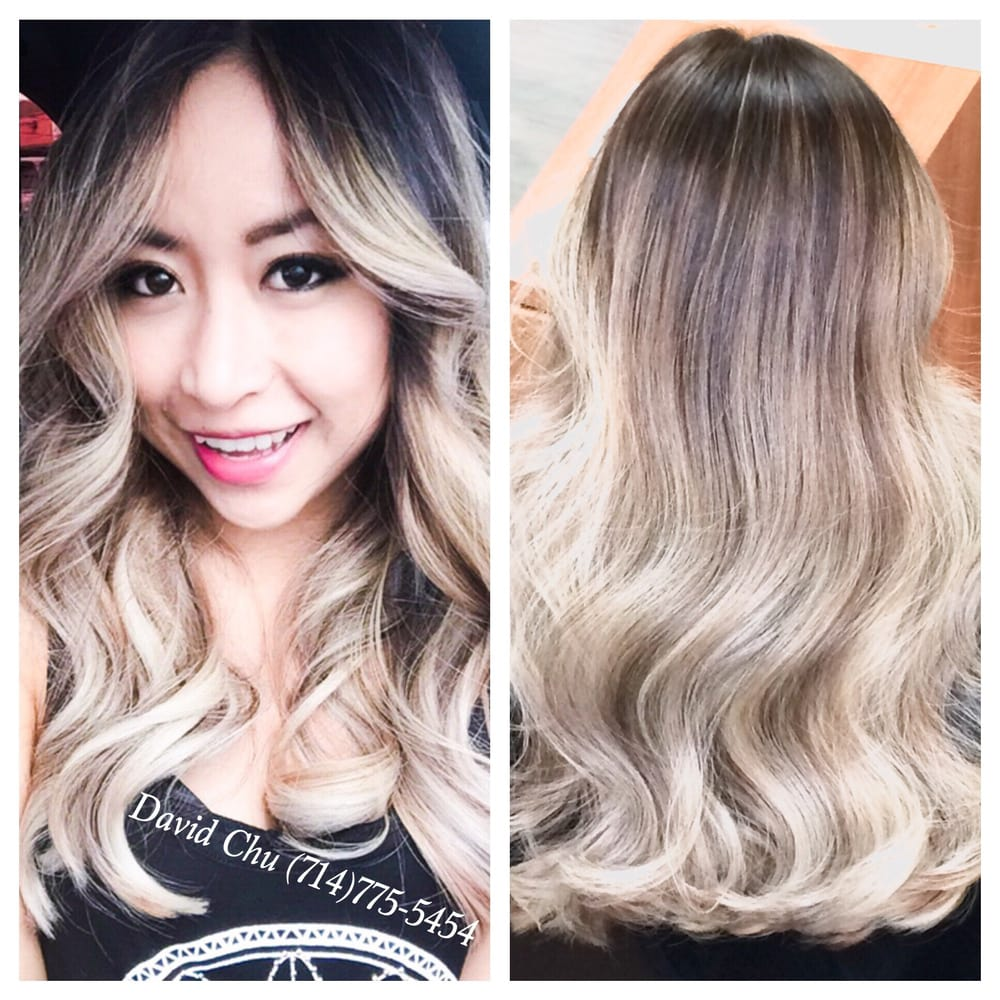 From natural dark brown/black to this gorgeous platinum ...