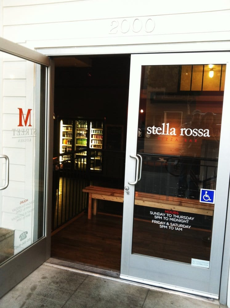 They share a door with stella rosa yelp for M kitchen santa monica