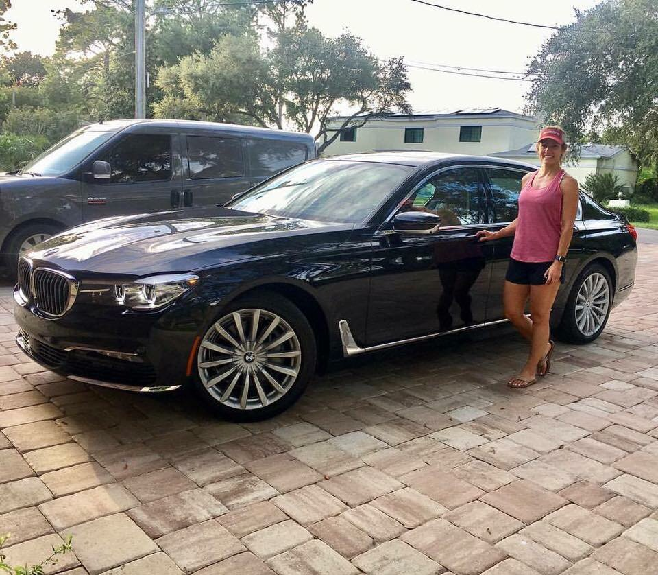 ashlyn davis is all smiles next to her brand new 2017 bmw 740i yelp. Black Bedroom Furniture Sets. Home Design Ideas