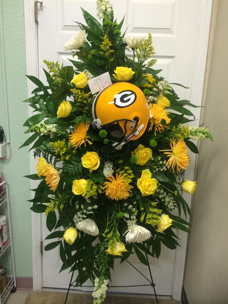 Custom Sympathy Spray For A Green Bay Packers Fan Yelp