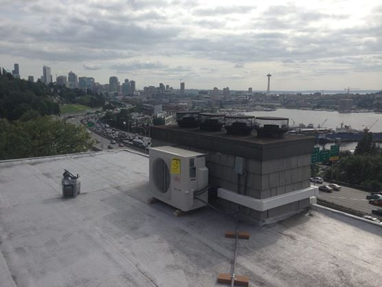 Ductless Heat Pump Installation With A Scenic View Of