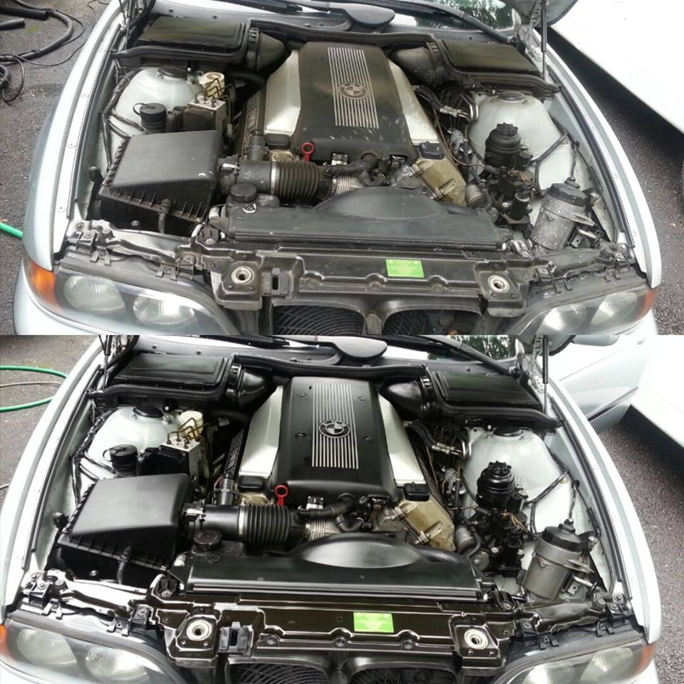 Engine Cleaning Before And After