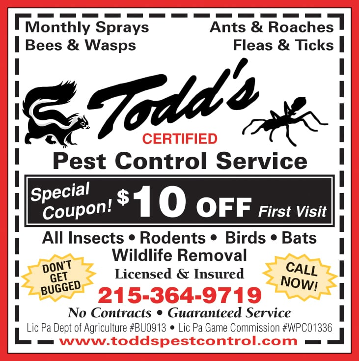 Todd's Pest Control Service: 15 Does Ln, Feasterville Trevose, PA
