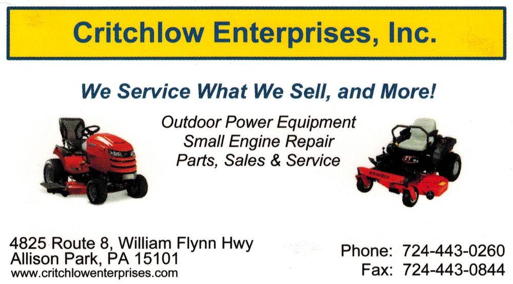 Critchlow Enterprises: 4825 William Flynn Hwy, Allison Park, PA
