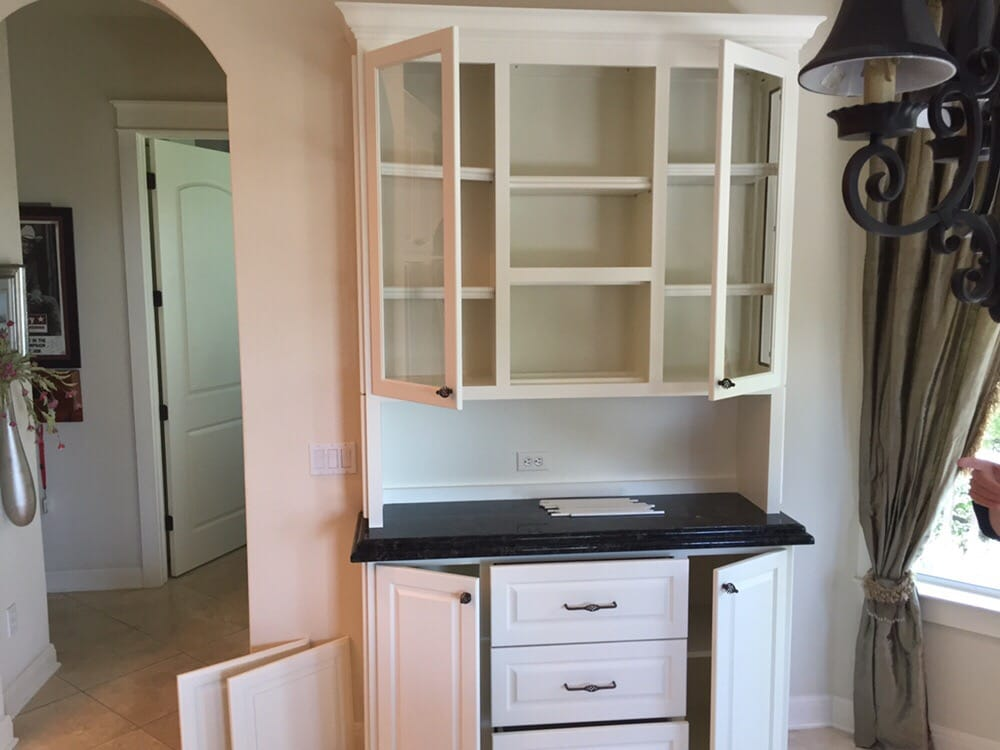 After china hutch customer wanted it to match their for 5 star kitchen cabinets