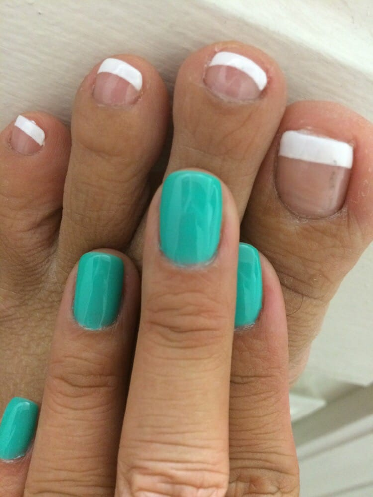 Shellac manicure & French pedicure! Love, love it!! - Yelp