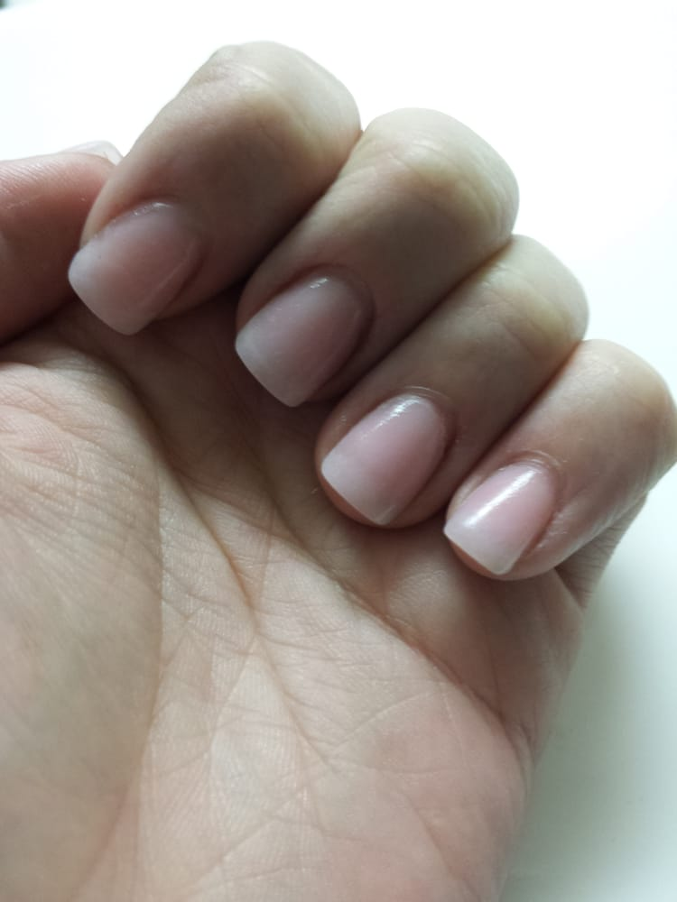 I wanted natural looking acrylics and that\'s what I got!! Clear tips ...