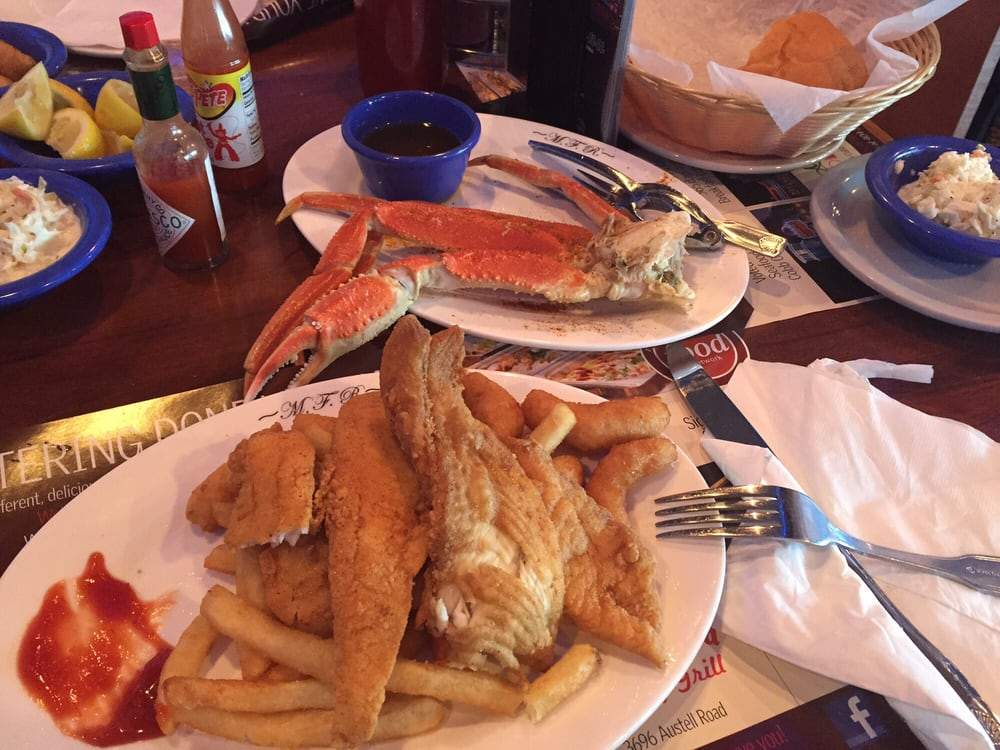 This is the lighter fare with an add on of half an order for Marietta fish market