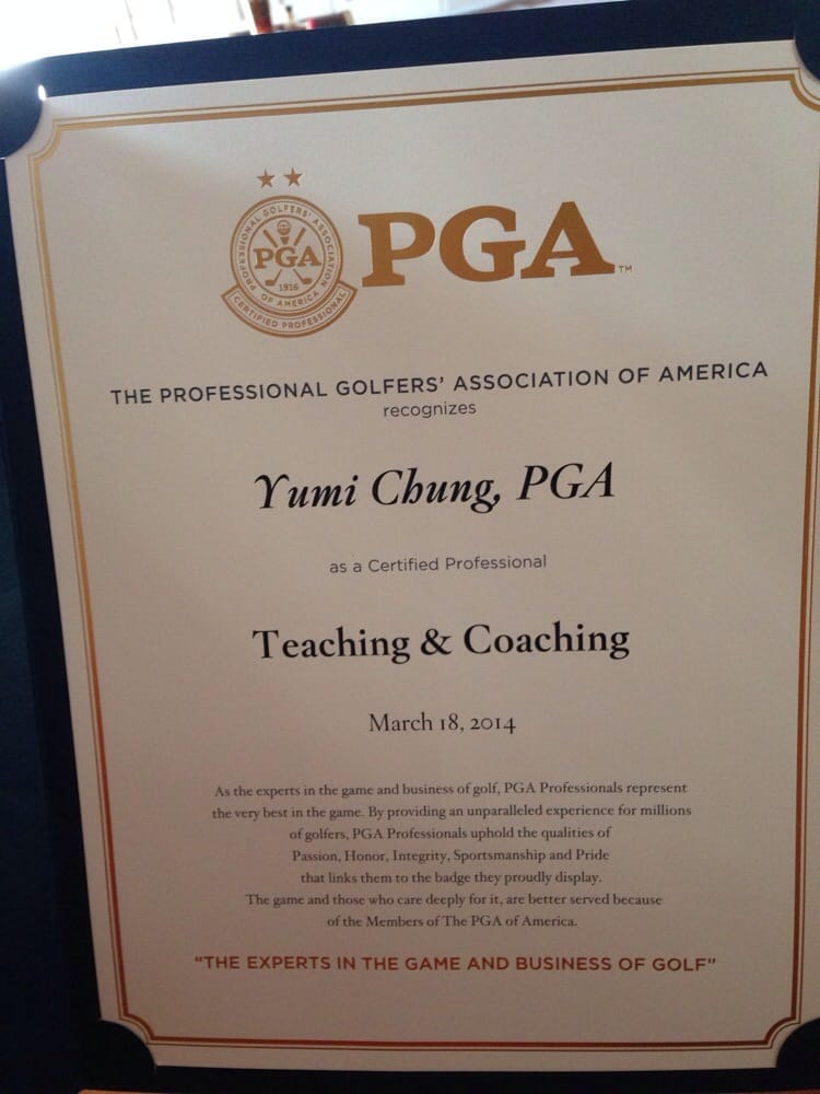 Certification received for specializing in instruction. Yumi is now ...