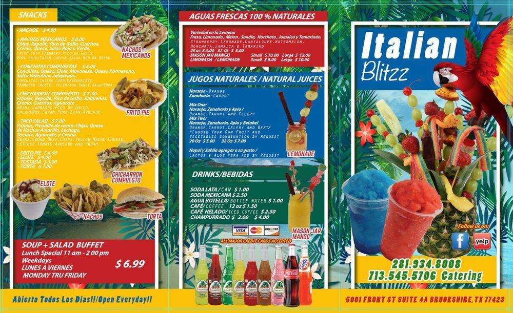 Italian blitz: 5001 Front St, Brookshire, TX