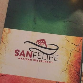 San Felipe Mexican Restaurant Menu Southport Nc