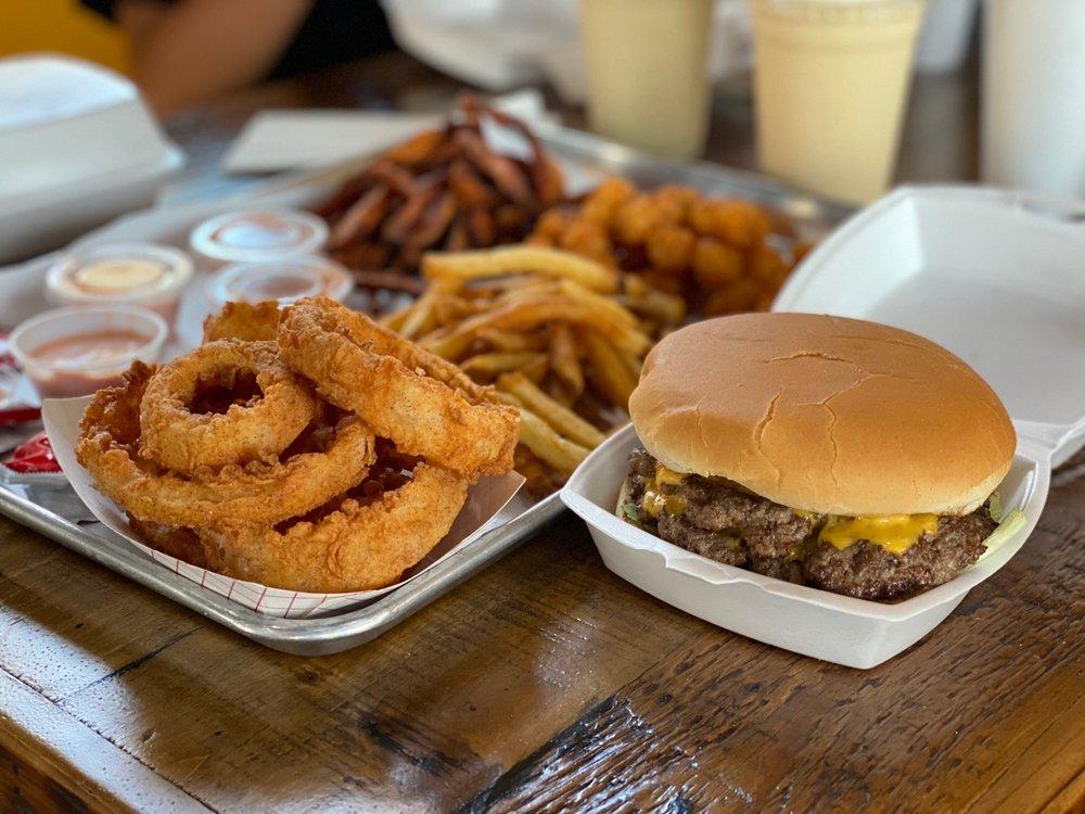 Food from Scrumbscious Burgers & Pieshakes