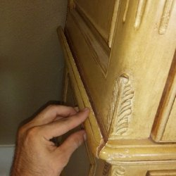 Photo Of Roselli Restoration   Vancouver, WA, United States. Armoire Prior  To Repair
